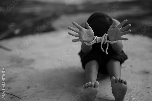 Fényképezés  Human trafficking ,Stop abusing violence.