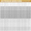 840 arrow vector icons, black color simple
