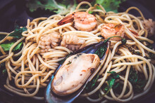 Thai Food Pasta Stir Fried Sp...
