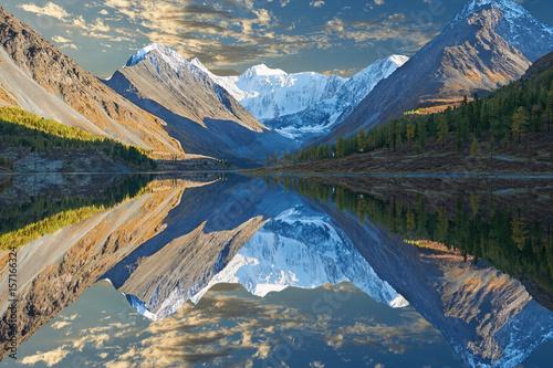 Beautiful autumn landscape, Altai mountains Russia. Canvas Print