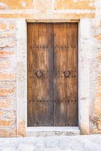 Tür Holz Braun Detail Ansicht