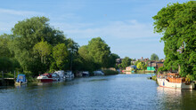 Boats On The River Waveney At ...