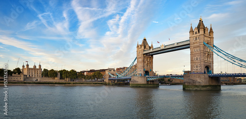 Foto op Canvas Londen Tower of London and Tower Bridge Panorama
