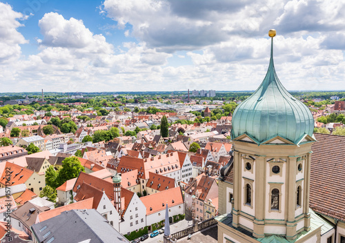 Photo Aerial view over Augsburg