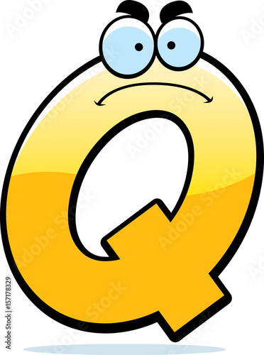 Photo  Angry Cartoon Letter Q
