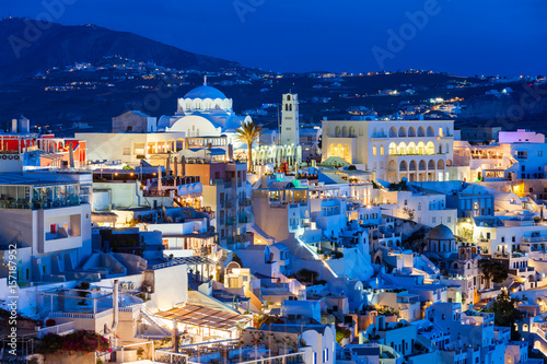 Fototapeta Fira town, Santorini island obraz