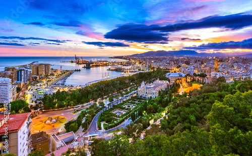 Photo  Cityscape of Malaga, Andalusia, Spain