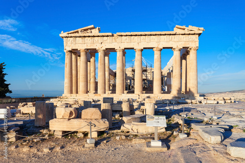 Plakat Świątynia Partenon w Atenach