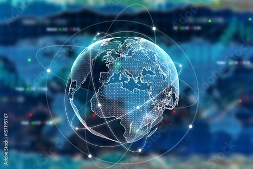 Obraz Internation business concept - fototapety do salonu
