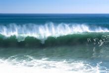 Powerful Wave Along Beach