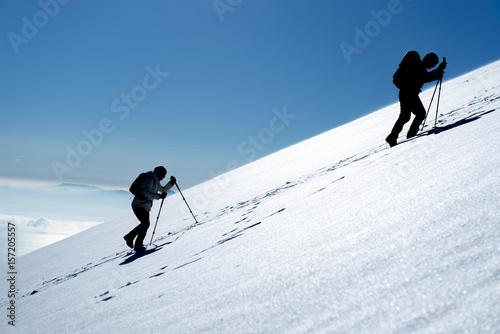 tırmanış yapan bayan dağcılar Canvas Print