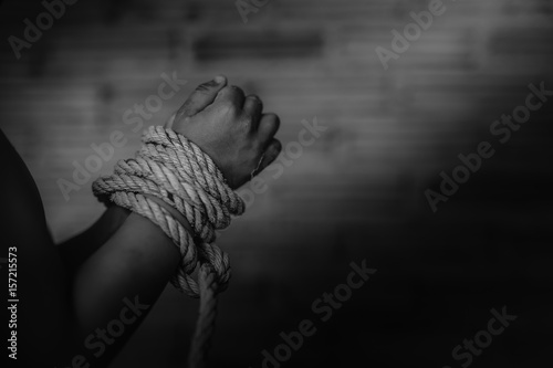 Vászonkép  Human trafficking ,Stop abusing violence,human trafficking