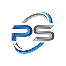 Simple Initial Letter Logo Modern Swoosh PS