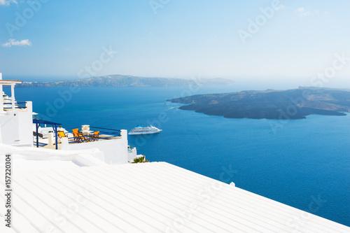 Papiers peints Santorini Beautiful sea coast of Santorini island, Greece.