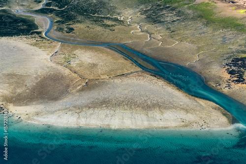 Vue aérienne de l'estuaire de la Rance - 35 Fototapet