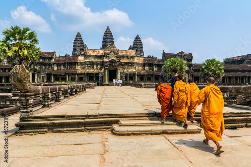 Amazing view of Angkor Wat is a temple complex in Cambodia and the largest religious monument in the world Canvas Print