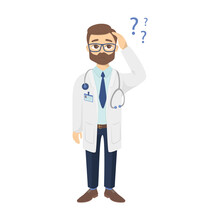 Confused Doctor With Questions.