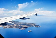 View From The Window Of An Airplane On Ibiza