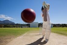 Full Length Of Batsman Playing...