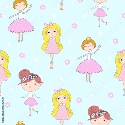 cartoon-positive-seamless-pattern-with-cute-girls