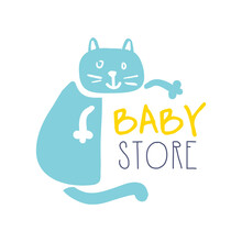 Baby Store Logo Colorful Hand ...