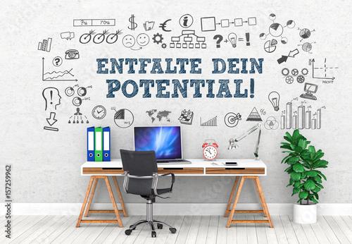 Fotografie, Obraz  Entfalte Dein Potential! / Office / Wall / Symbol
