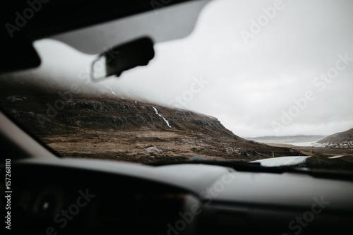 Papiers peints Lieu d Europe Shot from car of mountains