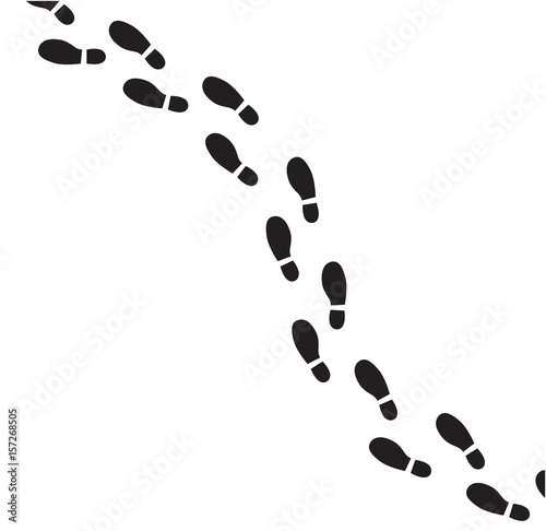 Footprint vector illustration. Canvas Print