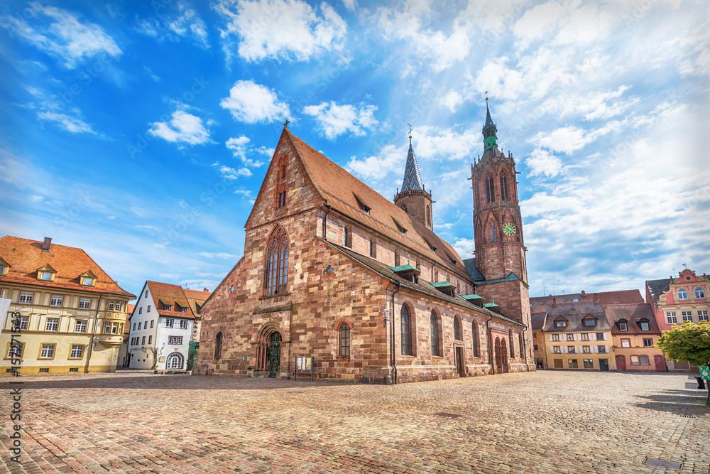 Fototapety, obrazy: Cathedral on munsterplatz square in Villingen-Schwenningen