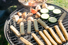 Grilling Vegan Sausages And Ve...