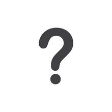 Question Mark Icon In Black On...