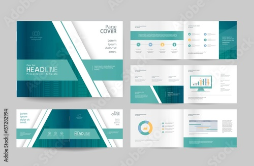 Business Profile Template | Business Brochure Design Template And Page Layout For Company