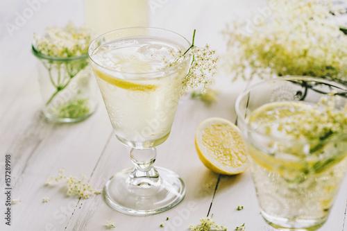 Fotografie, Obraz  Holunderblüten Limonade 03