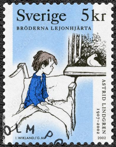 SWEDEN - 2002: shows The Brothers Lionheart, series Astrid Anna Emilia Lindgren Poster