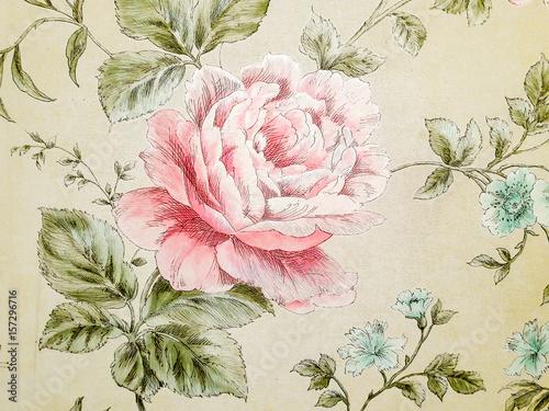 watercolor pink flowers in wallpaper.