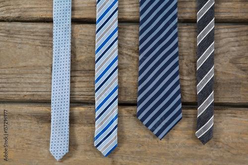 Fotografia Overhead view of neckties