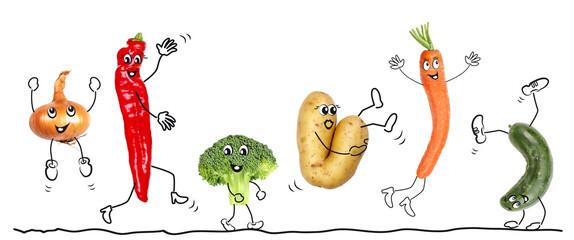 Fototapeta Warzywa Bio Gemüse, Comic