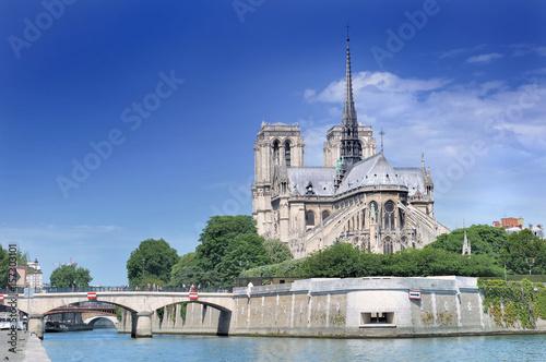 Spoed Foto op Canvas Monument cathédrale Notre Dame de Paris -France