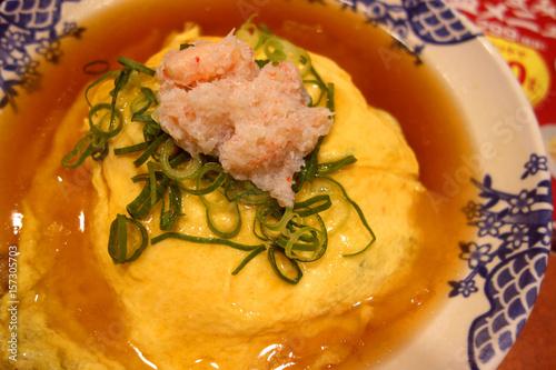 Tenshinhan/crab omelet on rice. Canvas Print