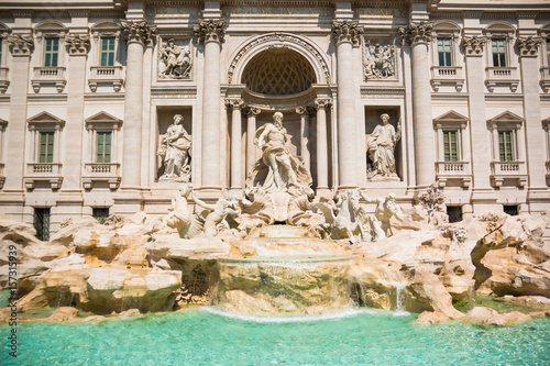 In de dag Rome View of The Famous Trevi Fountain in Rome