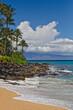 Pohaku Beach (S Turns) - Island of Maui - Island of Lana'i on Horizon