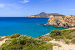 South coast of Milos island, Tsigrado beach. Cyclades, Greece.