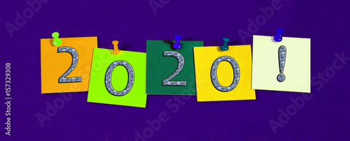 2020 - New Year sign / banner / design for New Years Eve ...
