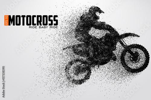 Motocross drivers silhouette. Vector illustration фототапет