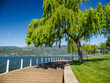 Promenade along the Okanagan Lake waterfront in Kelowna, BC