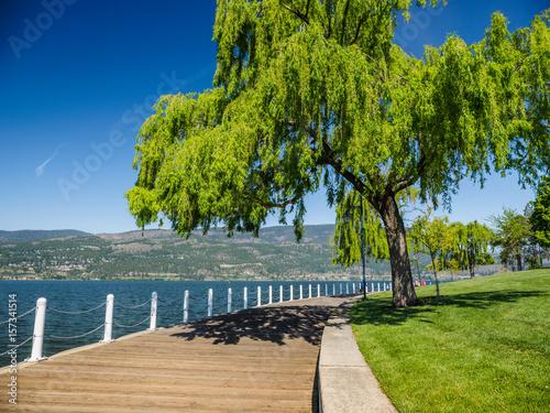 Obraz Promenade along the Okanagan Lake waterfront in Kelowna, BC - fototapety do salonu