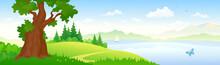 River Landscape Banner
