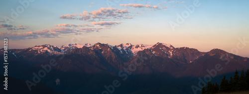 Fotografie, Obraz  Olympic Mountains National Park Sunrise Hurricane Ridge