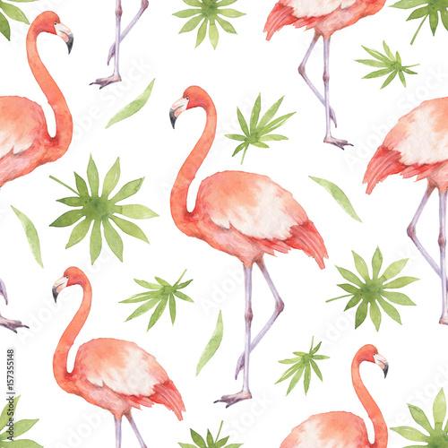 akwarela-bezszwowe-wzor-z-flamingo-i-palmy-na-bialym-tle