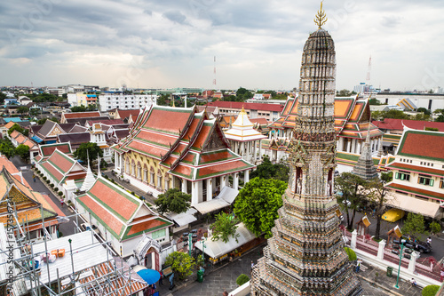 Wat Arun in Bangkok city
